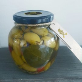 Green Olives with Herbs de Provence.