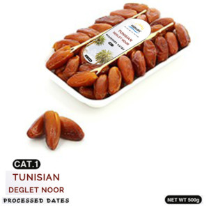 Processed Deglet Noor Dates 500g Tray