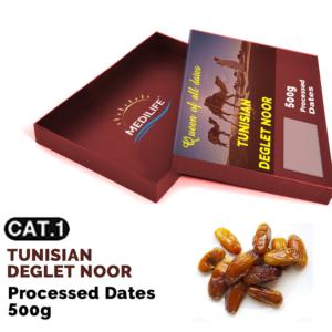 Processed Deglet Noor Dates 500g Carton Box