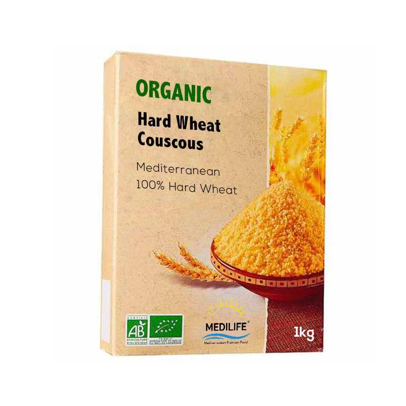 Organic Hard Wheat Couscous 1kg Carton
