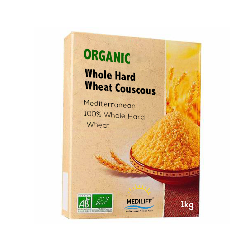 Organic Whole Wheat Couscous 1kg Carton